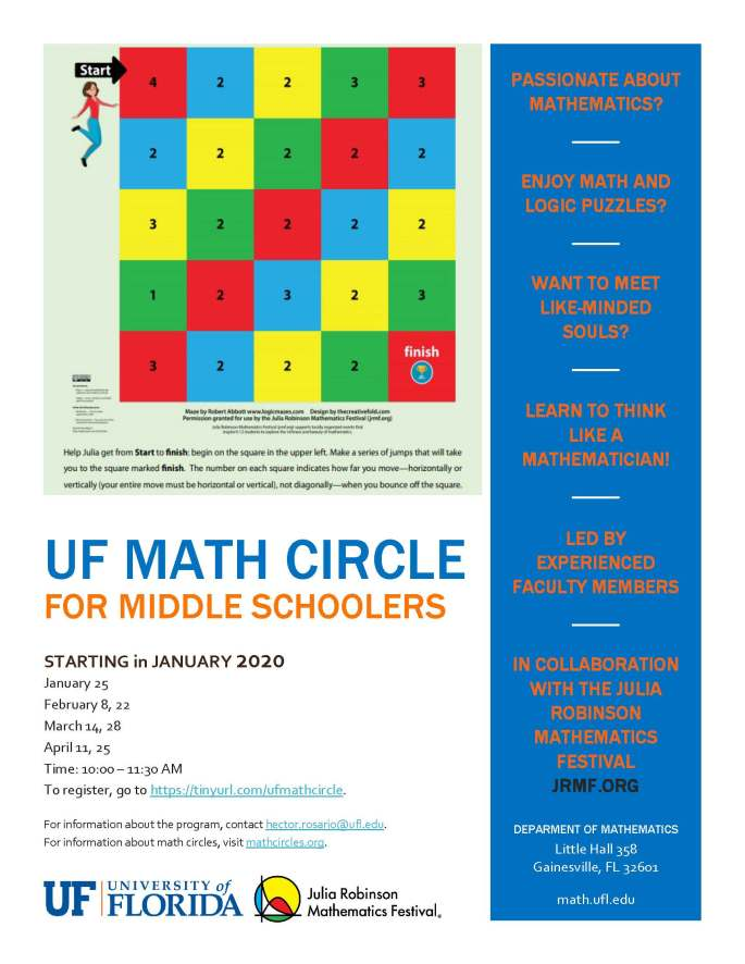UF Math circle flyer
